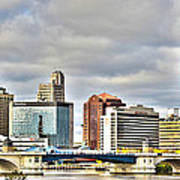 Downtown Toledo Riverfront Art Print