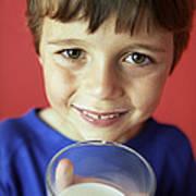 Drinking Milk Art Print
