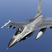 Dutch F-16am During A Combat Air Patrol Art Print