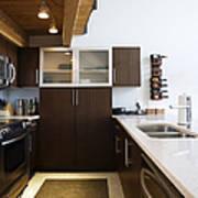 Efficiency Apartment Kitchen Art Print by Ben Sandall