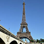 Eiffel Tower In Paris Art Print