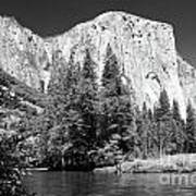 El Capitan And Merced River Art Print