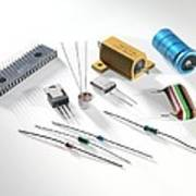 Electronic Components Art Print by Tek Image