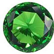 Emerald Isolated Art Print