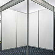 Empty Exhibition Booth Print by Jon Boyes