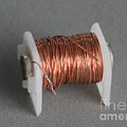 Enamel Coated Copper Wire Art Print by Photo Researchers