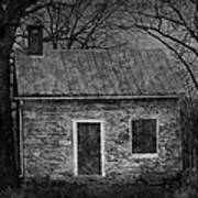 Enchanted Moonlight Cottage Art Print