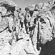 Eroded Sandstone Cliffs Art Print