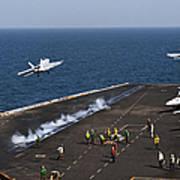 Fa-18f Super Hornets Launch Art Print