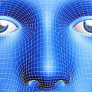 Face Biometrics Art Print by Pasieka