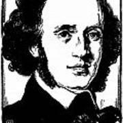 Felix Mendelssohn Print by Granger
