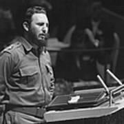 Fidel Castro (1926-) Art Print