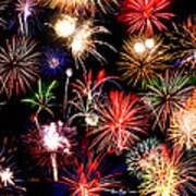 Fireworks Medley Art Print