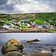 Fishing Village In Newfoundland Art Print by Elena Elisseeva