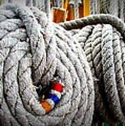 Fleet Week - Ship's Ropes Art Print by Maria Scarfone
