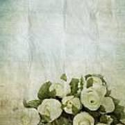 Floral Pattern On Old Paper Art Print