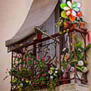 Flowery Balcony Art Print