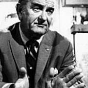Former President Lyndon Johnson Print by Everett