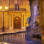 Fountain Aix-en-provence Art Print