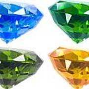 Four Diamond Art Print