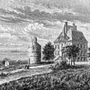 France: Wine Ch�teau, 1868 Art Print