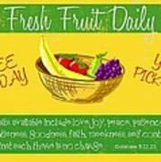 Free Fruit Art Print by Greg Long