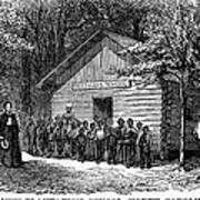 Freedmen School, 1868 Art Print by Granger