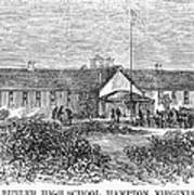 Freedmens School, 1868 Art Print