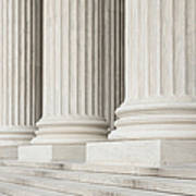 Front Steps And Columns Of The Supreme Court Art Print by Roberto Westbrook