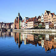 Gdansk Old Town And Motlawa River Art Print