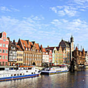 Gdansk Old Town In Poland Art Print
