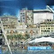 Genova Expo Area With Saint George Building Art Print