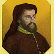 Geoffrey Chaucer, Father Of English Art Print