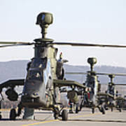German Tiger Eurocopters At Fritzlar Art Print