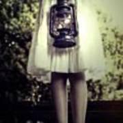 Girl With Oil Lamp Art Print by Joana Kruse