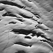 Glacier Tracks Art Print