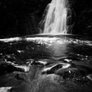 Gleno Or Glenoe Waterfall County Antrim Northern Ireland Uk Art Print