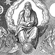 God Resting On 7th Day Art Print