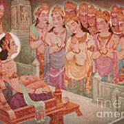 Gods Entertaining Mahavira Art Print