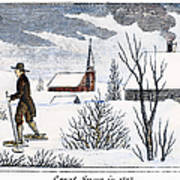 Great Snow Of 1717 Art Print