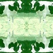 Green Cows Art Print
