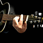 Guitar In Hands  Art Print