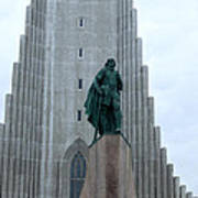 Hallgrimskirkja Church - Reykjavik Iceland  Art Print
