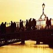 Hapenny Bridge, Dublin, Co Dublin Art Print