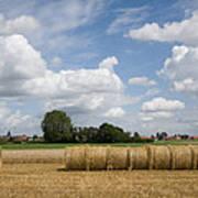 Harvest Time In France Art Print
