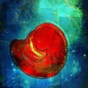 Heart afloat Art Print