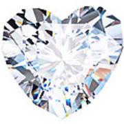Heart Diamond  Art Print