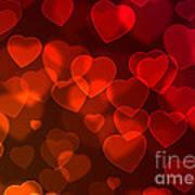 Hearts Background Art Print