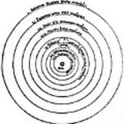 Heliocentric Universe, Copernicus, 1543 Art Print by Science Source