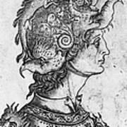Helmet, 15th Century Art Print